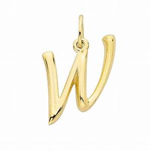 14k yellow gold alphabet charm quotwquot With 14k gold letter charms