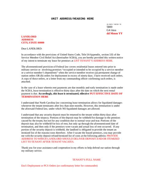 sample letter to terminate contract 5 commercial lease termination letter templates word
