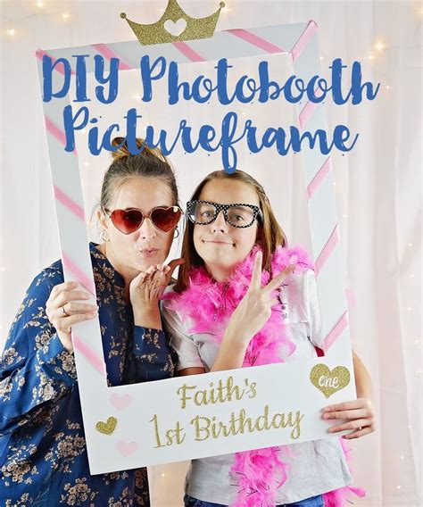 photo booth picture frame diy photo booth