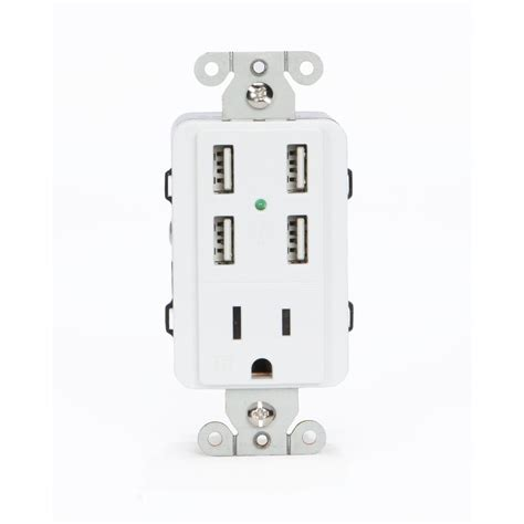 ls with usb ports and outlets u socket 15 amp ac wall outlet receptacle with 4 built in