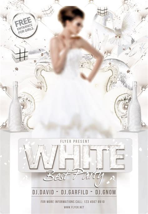 flyer template psd white  party facebook cover