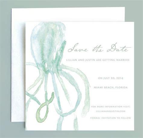 beach wedding nautical octopus save  date  leveret