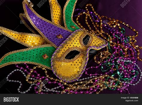 Mardi Gras Background Mardi Gras Mask On Purple Image Photo Bigstock