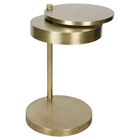 modern brass table l aston modern antique brass revolving circular discs side