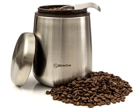 coffee canister with spoon blinkone coffee canister with magnetic spoon 6814