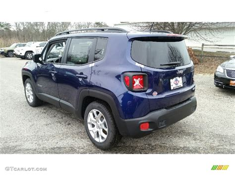 jeep renegade dark blue 2016 jetset blue jeep renegade latitude 109723810 photo