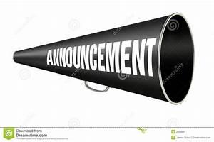 Megaphone Announcement Stock Image - Image: 2000861