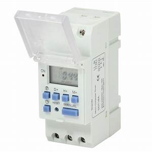 220vac 16a Din Rail Digital Lcd Programmable Timer Switch