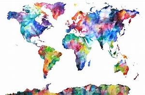 world map watercolor | Tumblr