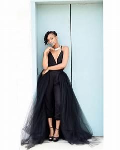 tulle overskirt black tulle wedding skirt detachable With how to make a long tulle skirt for wedding dress