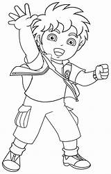 Diego Coloring sketch template