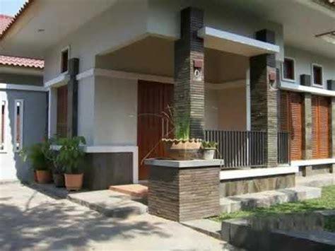 variasi pilar teras motif batu alam rumah moderen