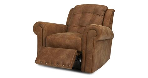 dfs majesty ranch arm chair manual recliner leather
