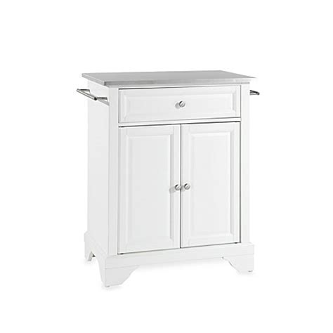 stainless steel portable kitchen island buy crosley lafayette stainless steel top portable kitchen