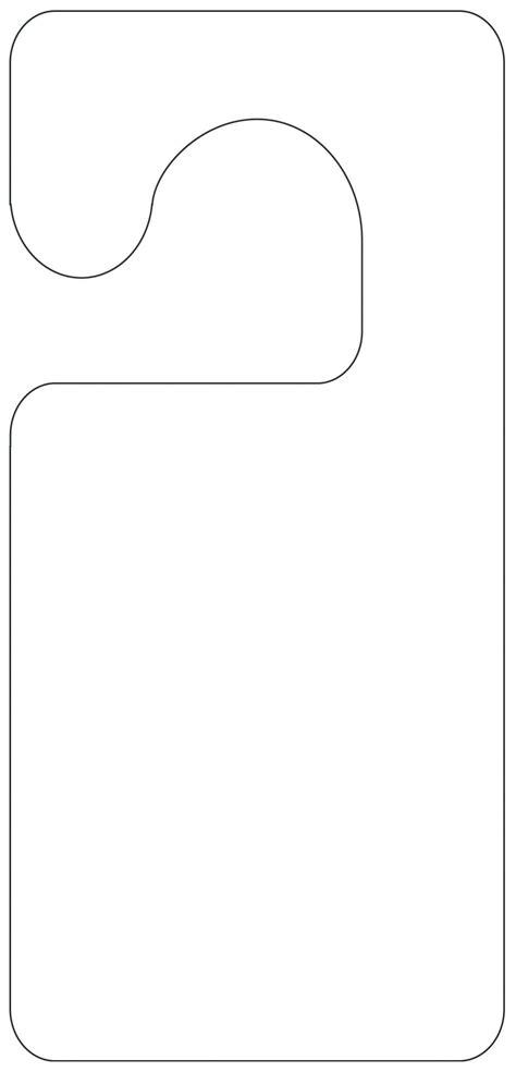printable door hanger template door hanger template