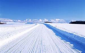 1920x1200 Snow Covered Road desktop PC and Mac wallpaper