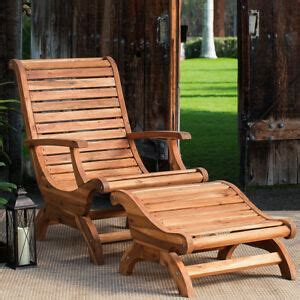 teak oiled plantation adirondack outdoor patio deck chair