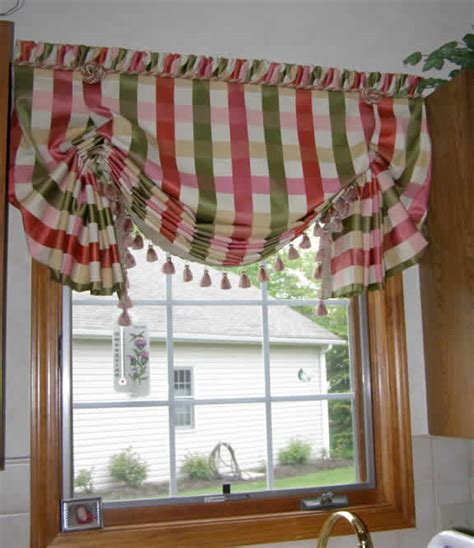 balloon shade valance curtain window treatment kitchen