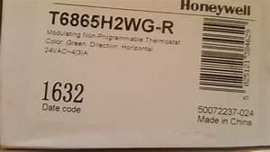 Termostato Digital Honeywell T6865h2wg-r  Proporcional