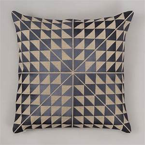 Geocentric, Cushion, Cover, -, Slate, And, Natural, Linen