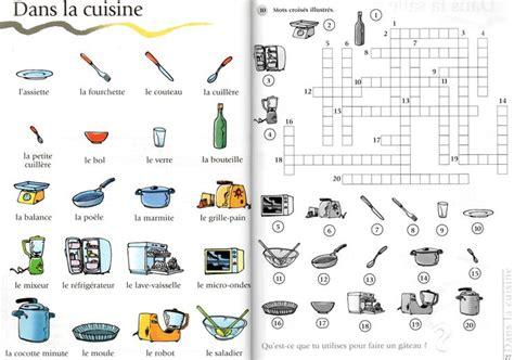 jeu de cuisine 218 best images about fle lexique de la maison on