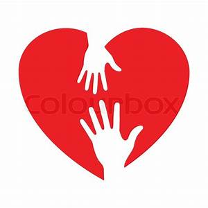 Heart Icon With Caring Hands  Vector