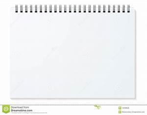 Carnet Page Blanche : horizontal spiral de cahier image libre de droits image ~ Teatrodelosmanantiales.com Idées de Décoration