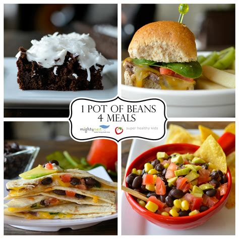 healthy easy to cook dishes 4 meals from 1 pot of beans healthy ideas for