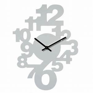 Horloge Murale Blanche : horloge murale chiffres couleur blanche maison fut e ~ Teatrodelosmanantiales.com Idées de Décoration