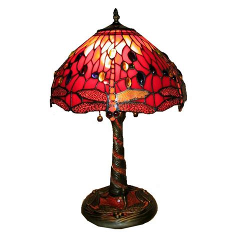tiffany dragonfly table l 20 quot tiffany style 2 light red dragonfly table l