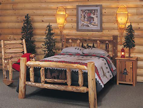 cedar log bed kits headboard  rustic furniture
