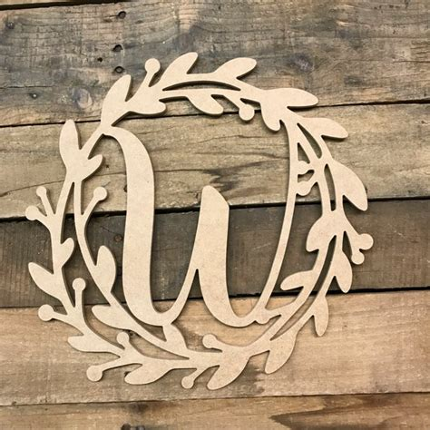 wooden cursive wreath frame monogram   wood letter cutout walmartcom walmartcom
