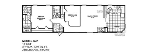 Lovely Single Wide Mobile Home Floor Plans 2 Bedroom