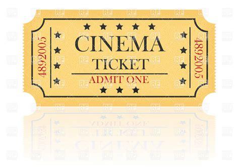 Ticket Clip Clipart Theatre Ticket Clipground