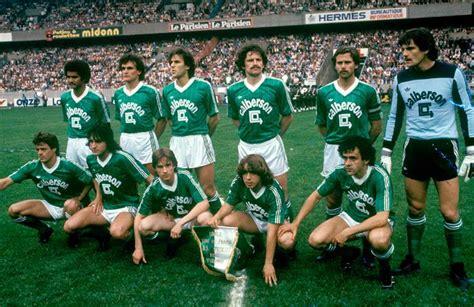 equipe de etienne psg etienne 2 2 6 5 tab 15 05 82 coupe de 81 82 archives football
