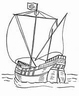Catamaran Ancient Coloring Template Sketch sketch template