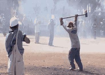 explosion hammer gif wifflegif