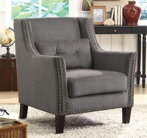 Grey Accent Arm Chair Chicago Cheap Furniture Outlet