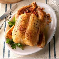 Roast Chicken With Creole Stuffing Recipe  Taste Of Home