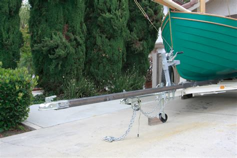 Boat Trailer Guide Extension by Trailer Modified For Shallow Boat R Launching