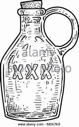Bottle Liquor Drawing Getdrawings Vector sketch template