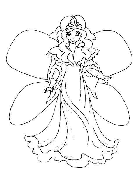 How To Draw A Fairy For Kids Coloring Home
