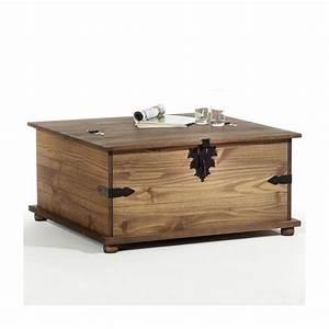 Table Basse En Pin : table basse en pin tequila style mexicain lasur brun ~ Teatrodelosmanantiales.com Idées de Décoration