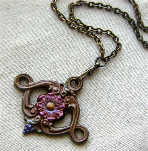 painted pendant  object jewelry lilruby jewelry