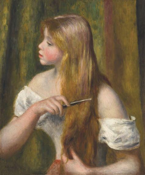 Pierre Auguste Renoir 1841 1919 Jeune Fille Se