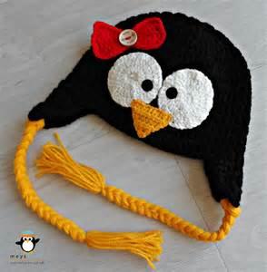 Crochet Penguin Hats for Kids