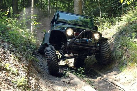 jeep tj wrangler  rough country cyl suspension