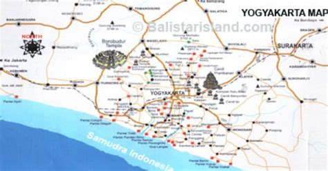 yogyakarta map java island asian destinations