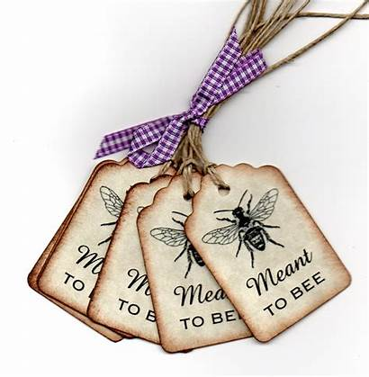 Bee Tags Meant Favor Honey Wish Jar