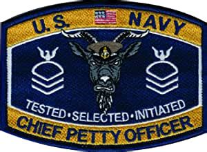 amazoncom  navy cpo goat locker patch automotive